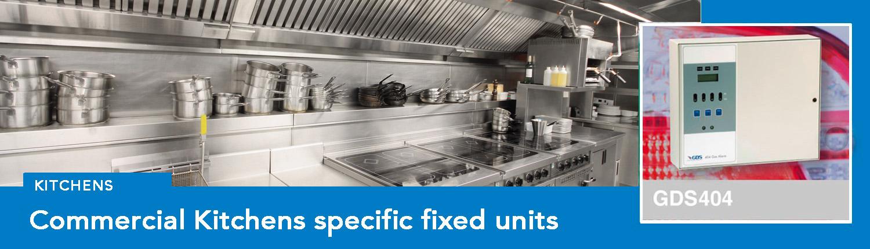 Kitchen safety gas monitoring